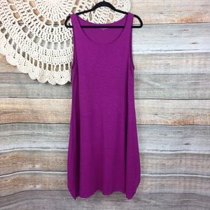 Eileen Fisher | Hemp Cotton Scoop Neck Shift Dress